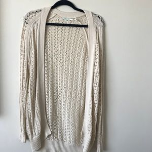 Urban outfitters white knit cardigan